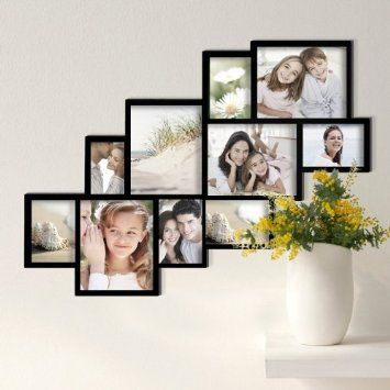 Amazon Com Adeco Pf0018 10 Openings Cluster Picture Collage Frame Holds Four 8x10 Five Framed Photo Collage Wall Hanging Photo Frames Photo Wall Decor