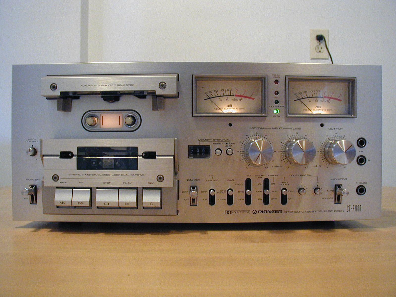 Pioneer Ct F1000 Cassette Deck Numerisation Et Transfert De Cassette Audio Www Remix Numerisation Fr Audio Cassette Tapes Stereo Tape Deck