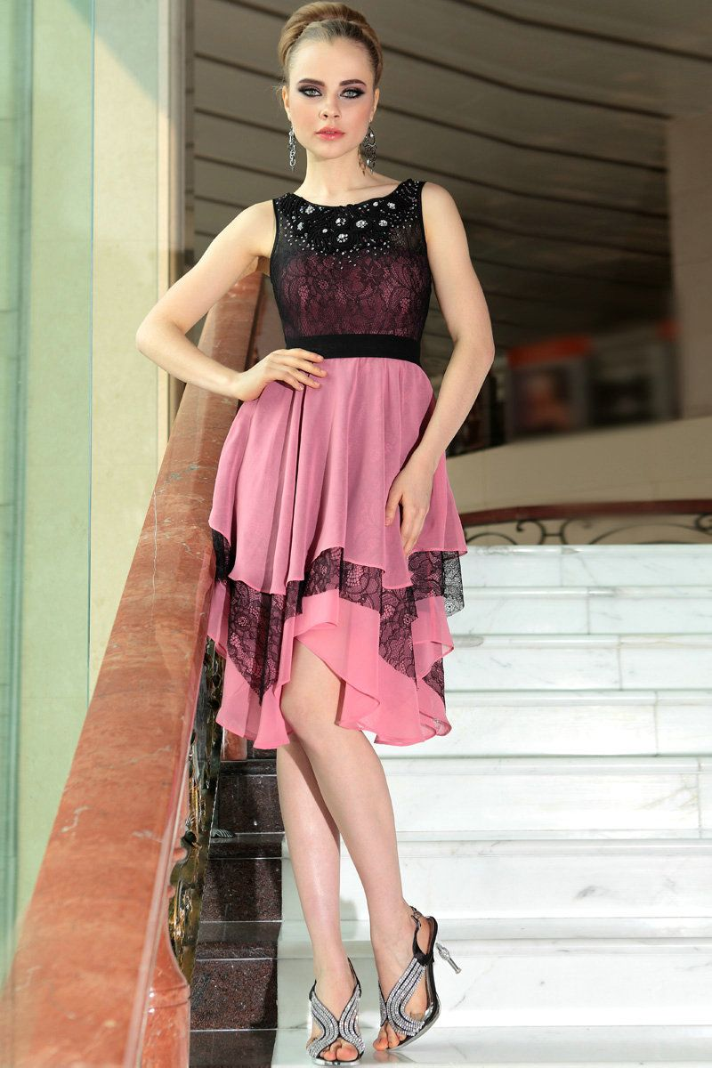 Black and Hot Pink Cocktail Dress | Sung Boutique L.A. | Cocktail ...