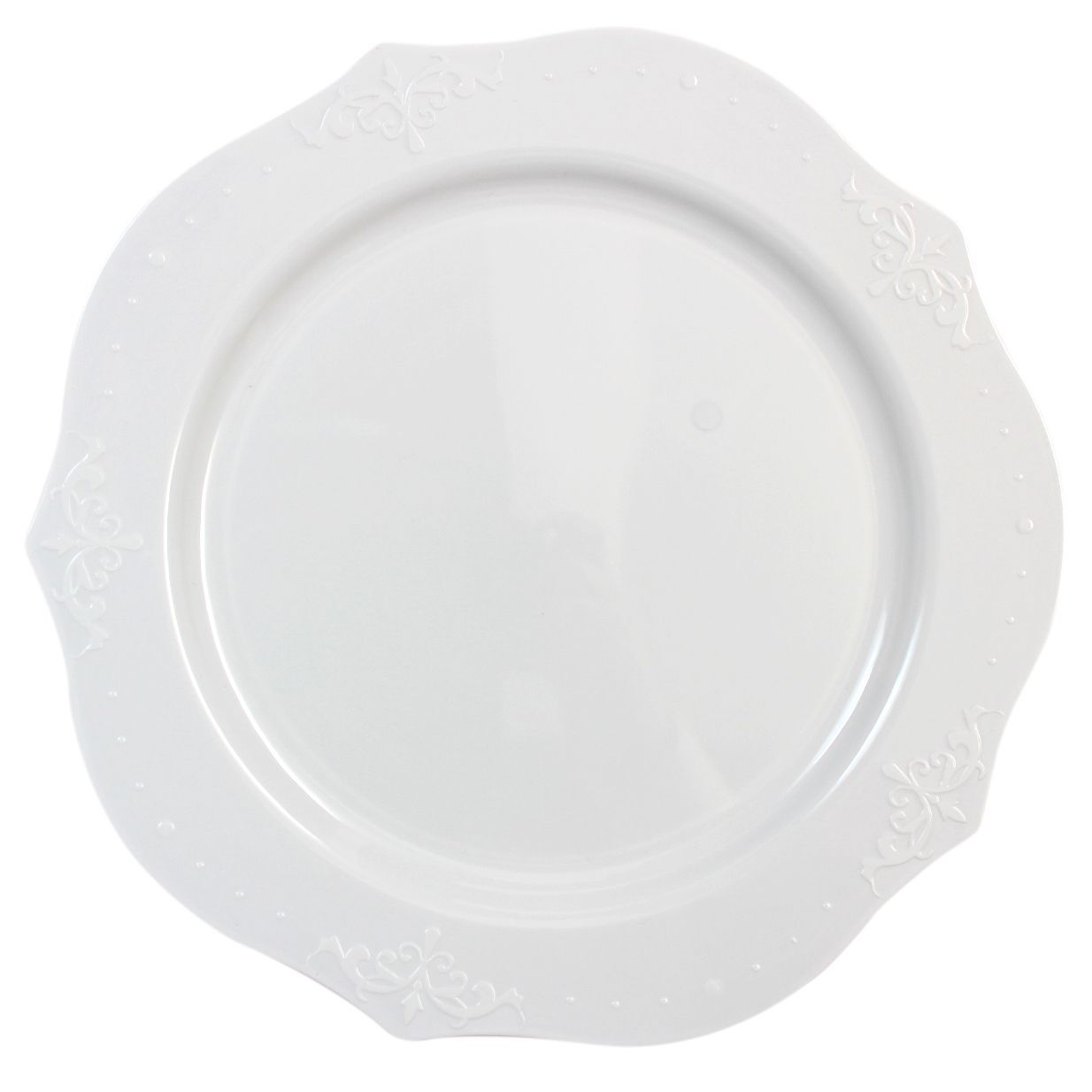 10 White Antique Plastic Dinner Plates With Images Disposable Wedding Plates White Plastic Plates Paper Plates Wedding