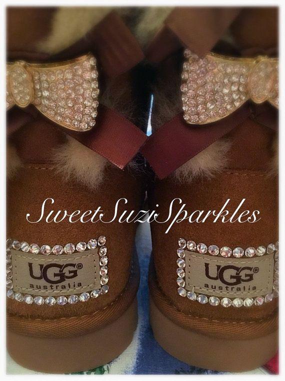b7463629bd27 Benutzerdefinierte Bling Ugg Boots Chestnut von SweetSuziSparkles