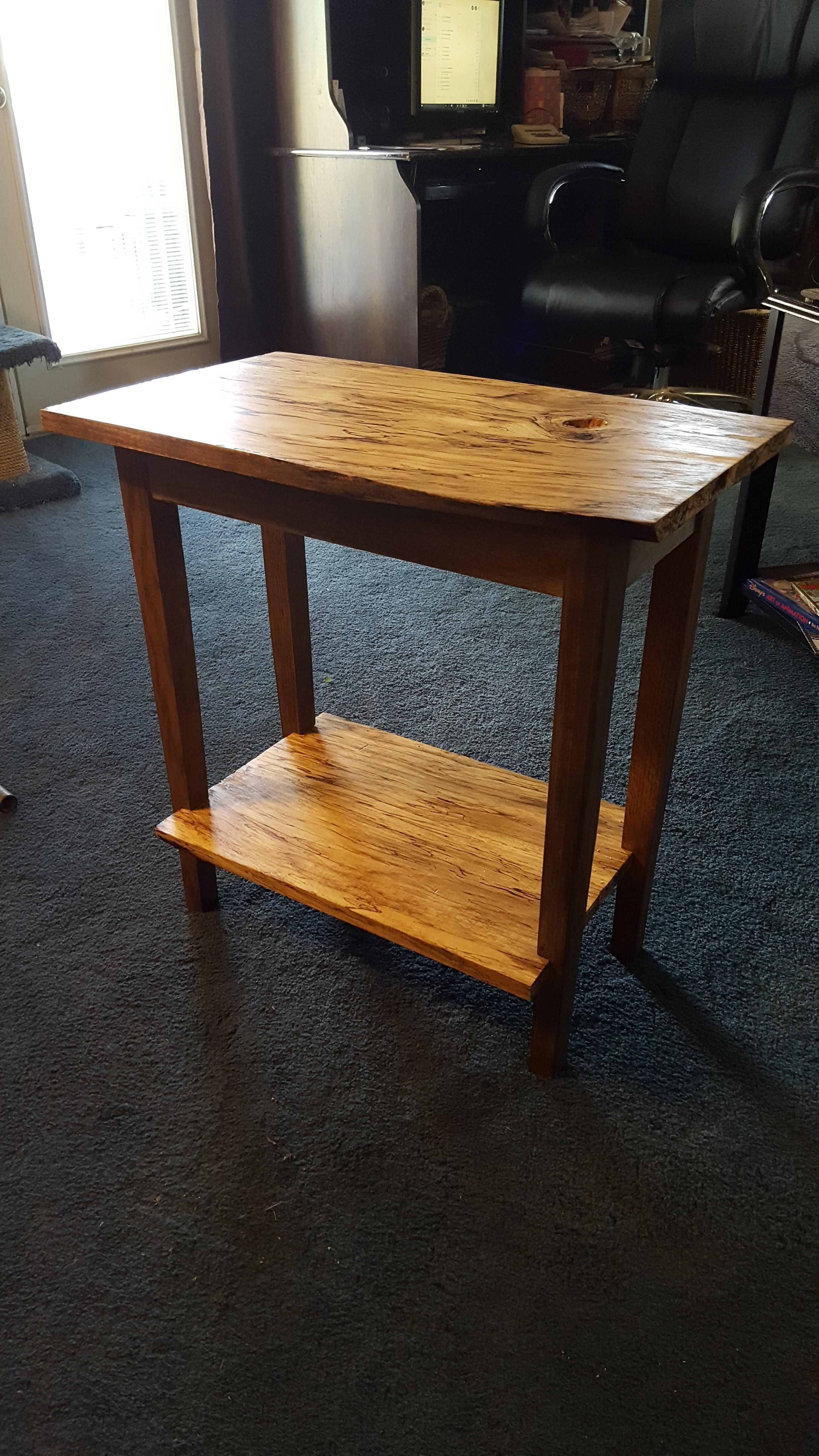 first thing i ve ever made spalted maple end table http ift tt rh pinterest com