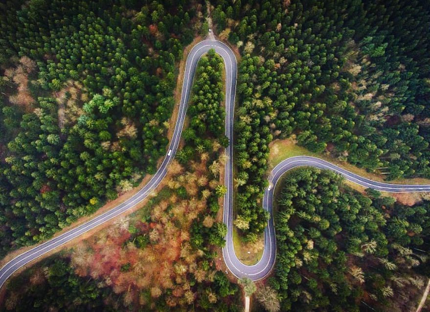 Beat Road Aerial Forest Wald Drone Curves