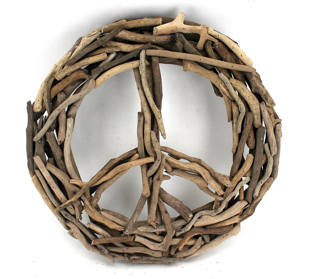 Driftwood Peace Sign Wall Decor In 2020 Wall Signs Wall