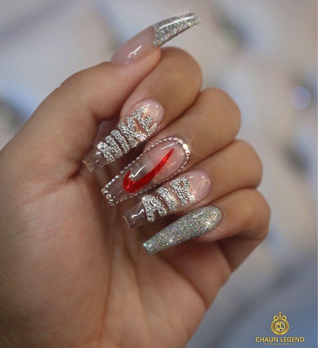 Pinterest Lolaxxlola Nike Nails Glass Nails Swag Nails