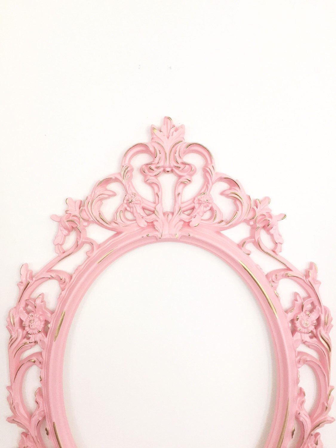 Pink Shabby Chic Frame, Baby Shower Gift, Wedding Photo Prop, Pink ...