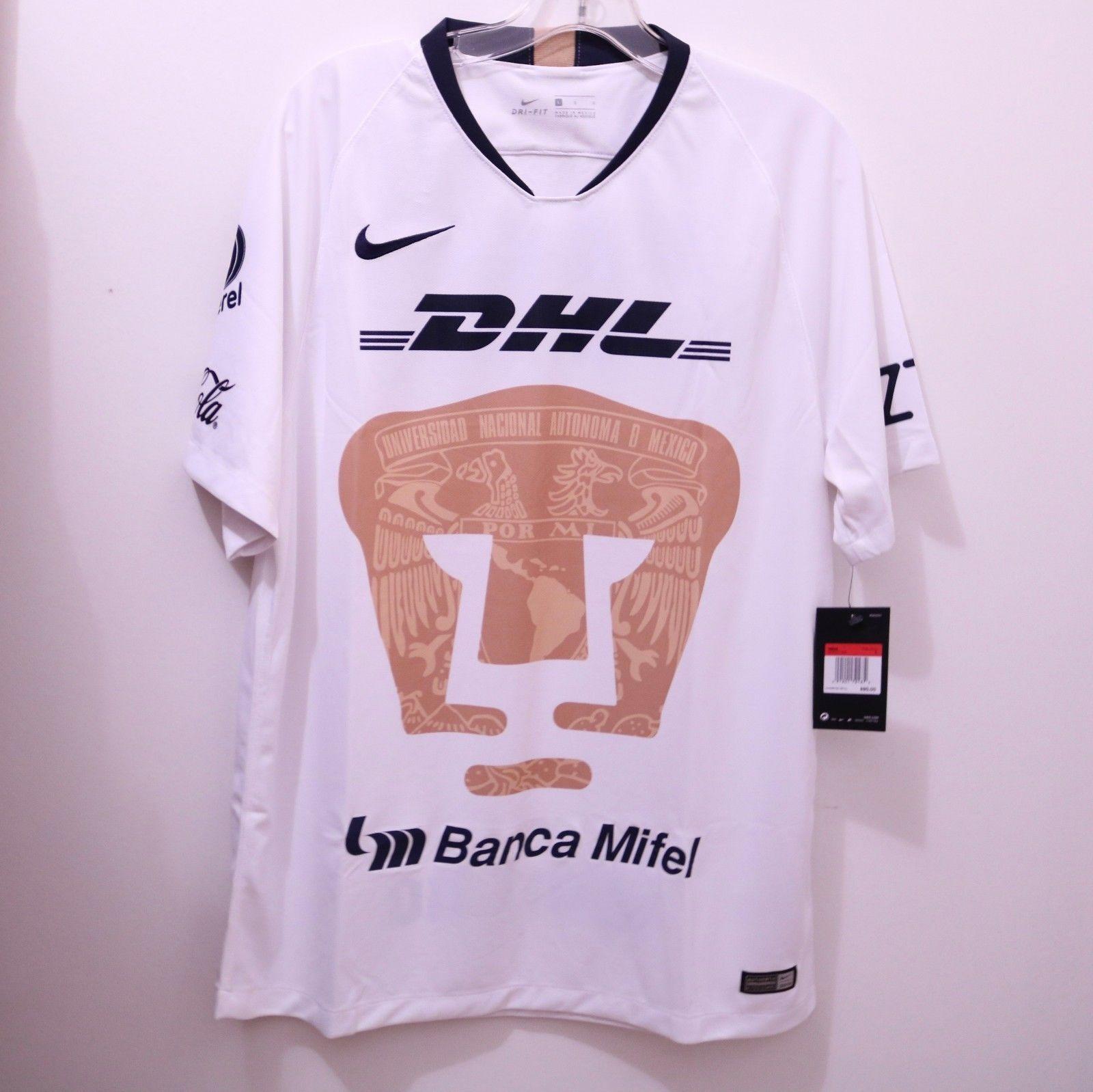 12e56f8e783 Nike Pumas UNAM Official 2018 2019 Home Soccer Football Jersey (eBay Link)