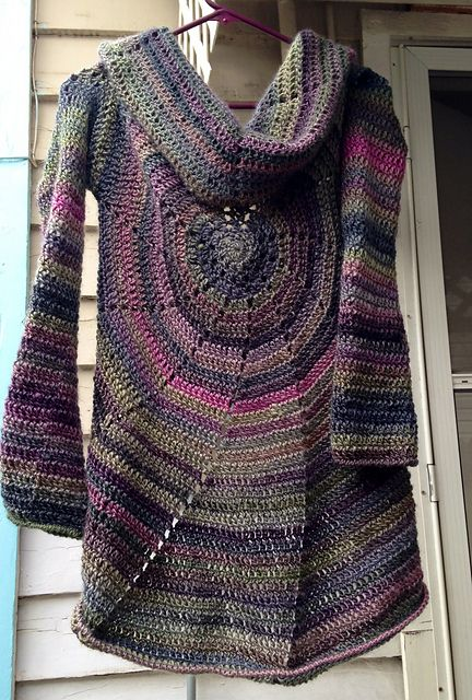 Ravelry Project Gallery For Pinwheel Sweater Pattern By Amy Depew