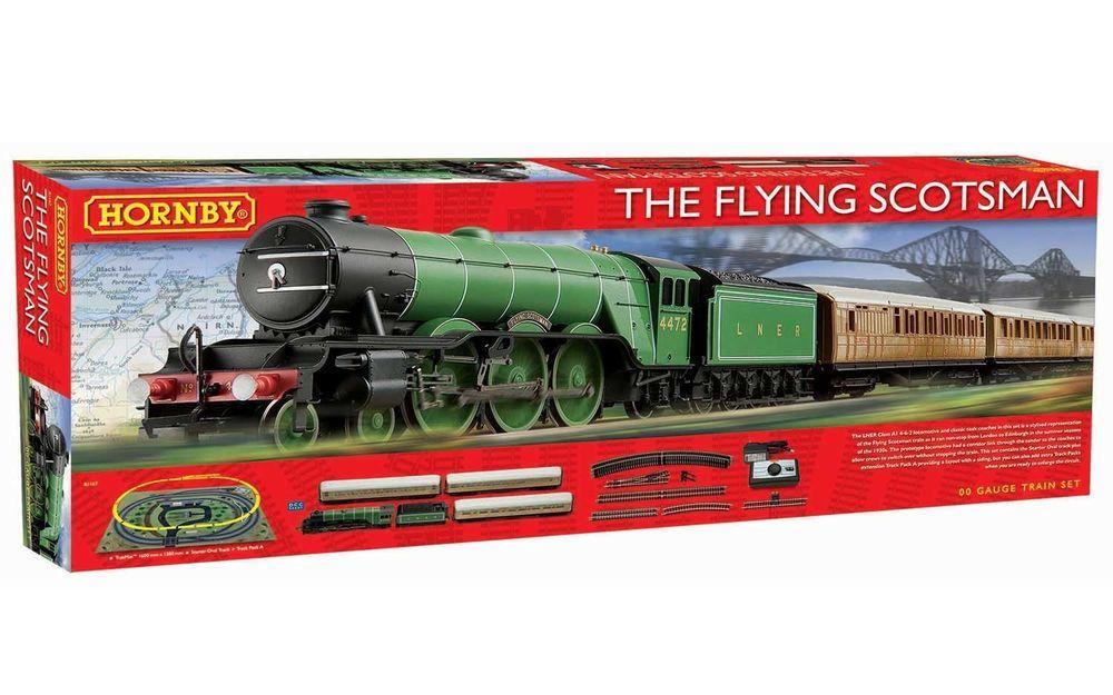 Hornby Flying Scotsman HO Passenger Train Set - NEW RUN