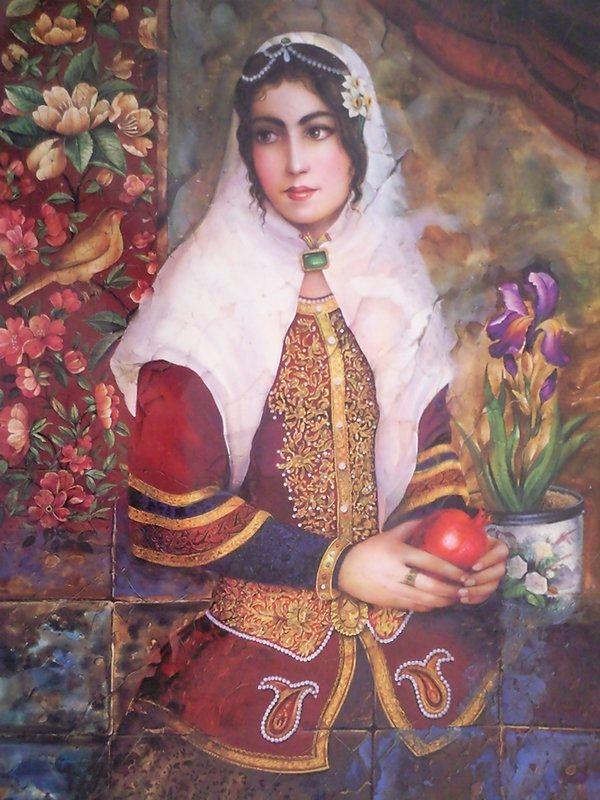 Persian girl . Qajar Era