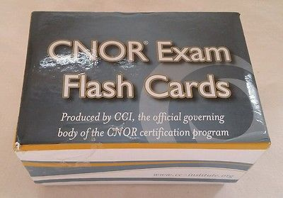CCI Competency & Credentialing Institute CNOR Operating Room RN Flash Cards
