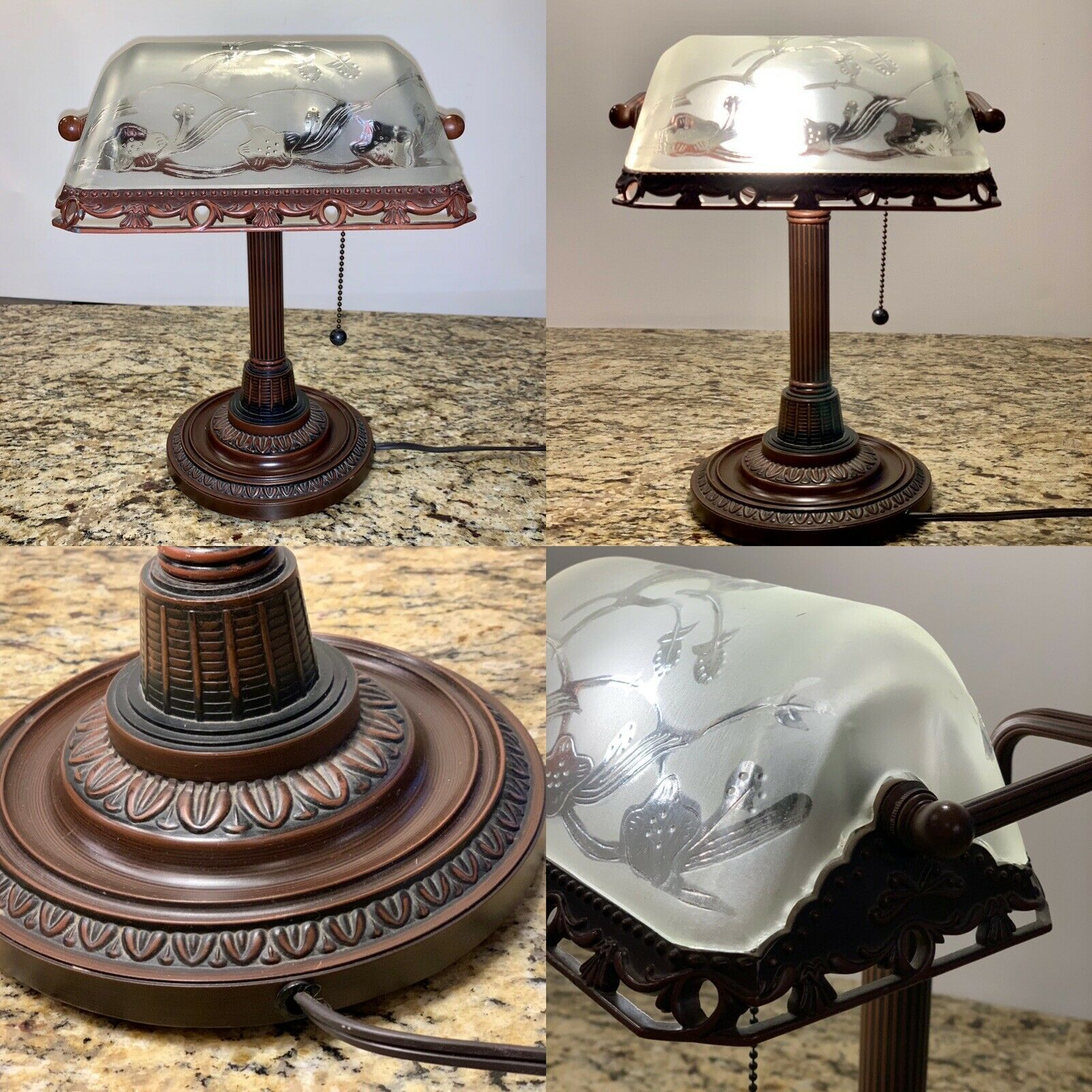 Vintage Piano Bankers Office Desk Den Frosted Glass Shade Table Lamp Light Ebay In 2020 Lamp Antique Table Lamps Table Lamp