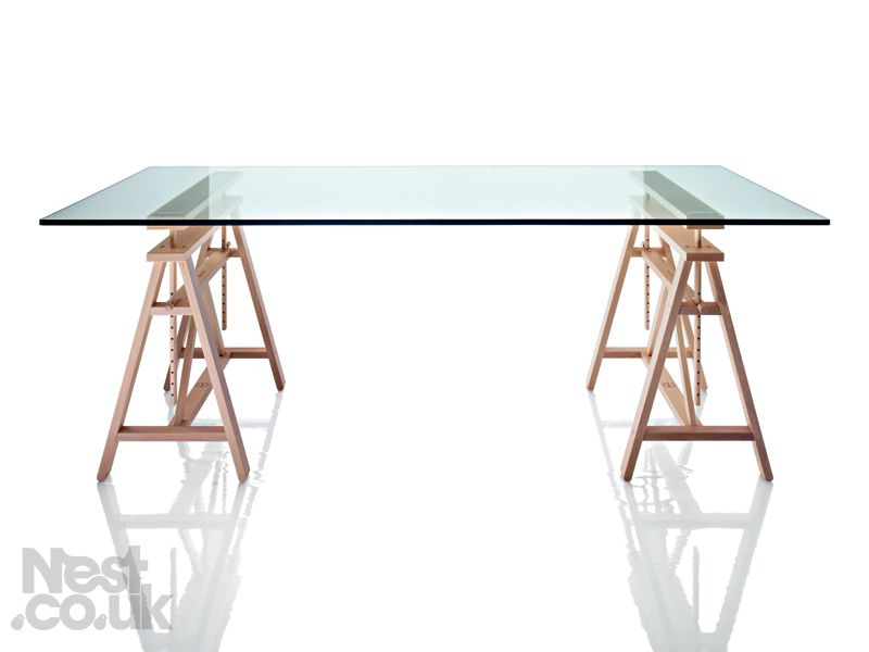 The Magis Teatro Trestle Table Is An Adjustable Table Designed Like Those  Used By Artists And Designers.