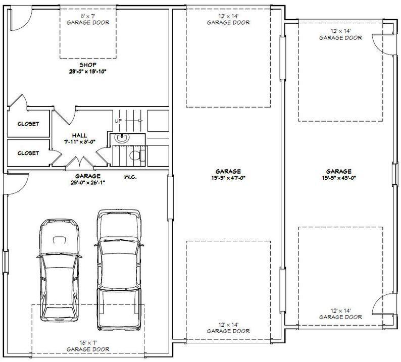 56x50 House 3 Bedroom 2 5 Bath 1703 Sq Ft Pdf Floor Etsy In 2020 Garage Floor Plans Garage Plans With Loft Floor Plans
