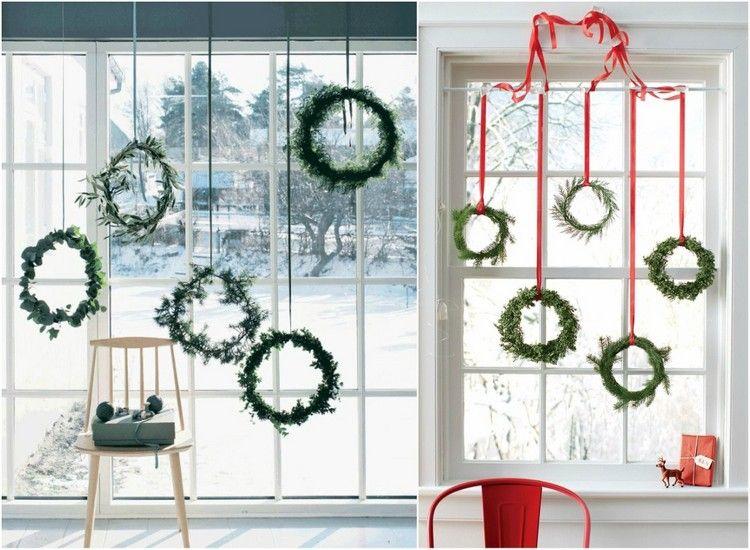 bodentiefe fenster weihnachtlich dekorieren h ngende. Black Bedroom Furniture Sets. Home Design Ideas