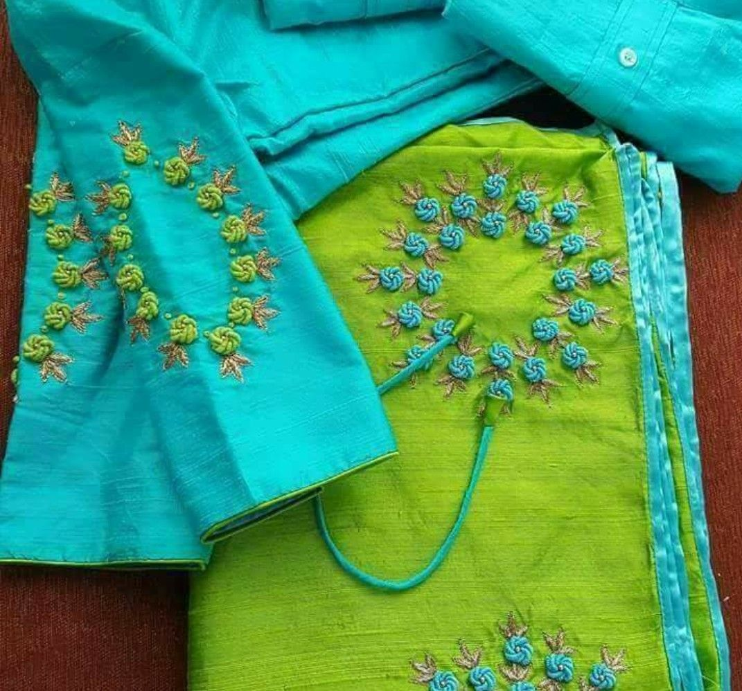 Hand Embroidery Suits Sham Pinterest Blouse Designs
