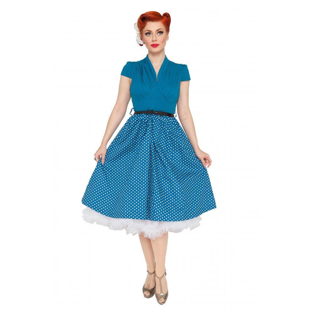 Megan\' Flirtatiously Fun 50\'s Vintage Inspired Pleated Bust Polka ...