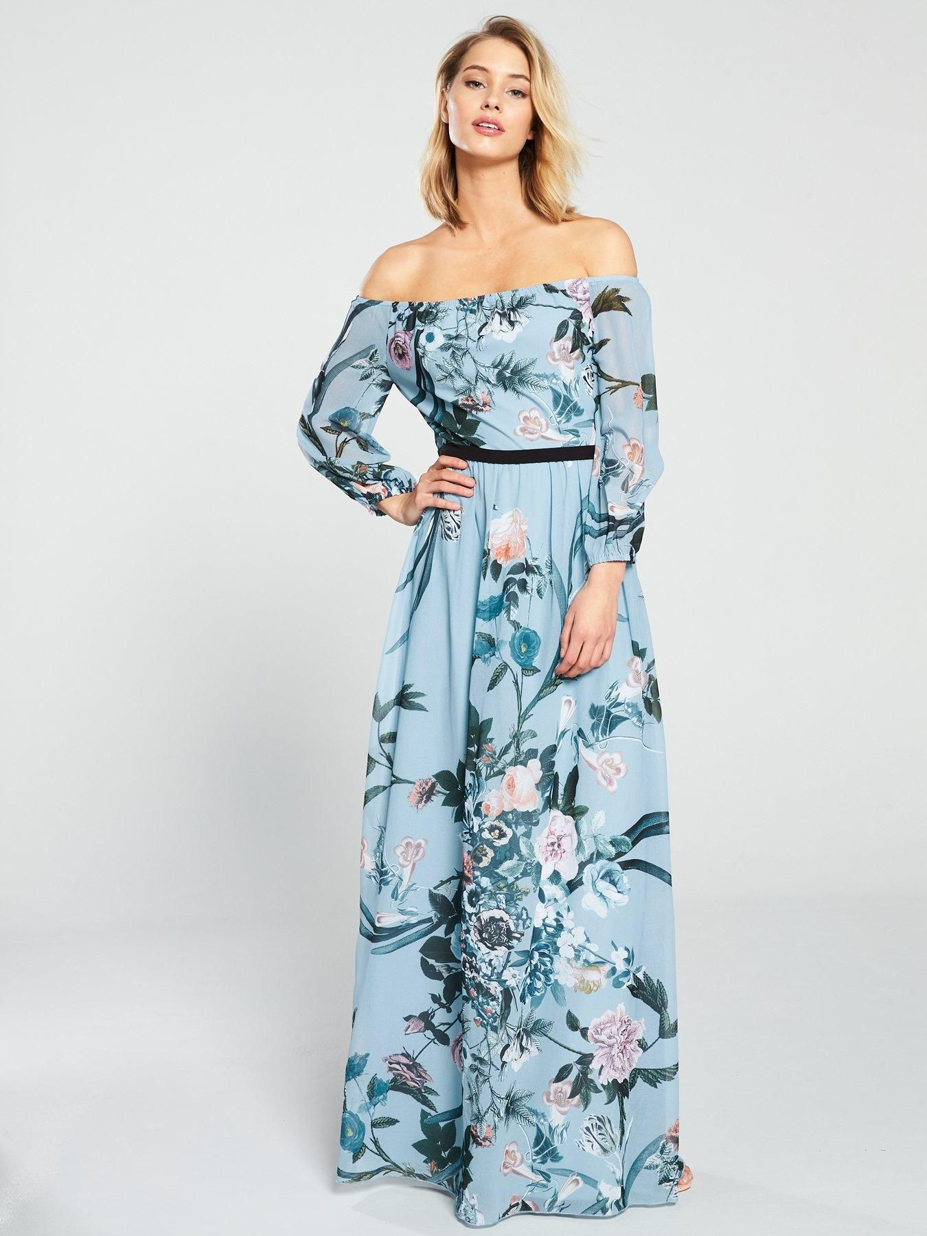high fashion the cheapest best quality Little Mistress Little Mistress Bardot Floral Printed Maxi ...