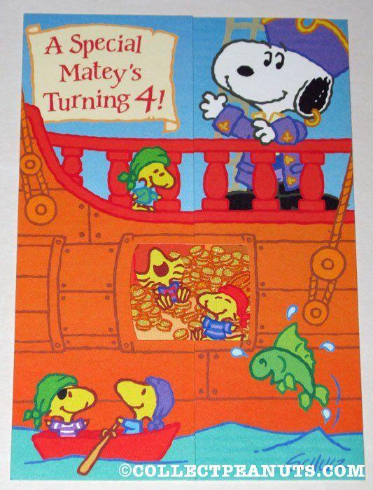 Peanuts birthday cards snoopy charlie brown and peanuts gang pirate snoopy woodstocks birthday greeting card bookmarktalkfo Gallery