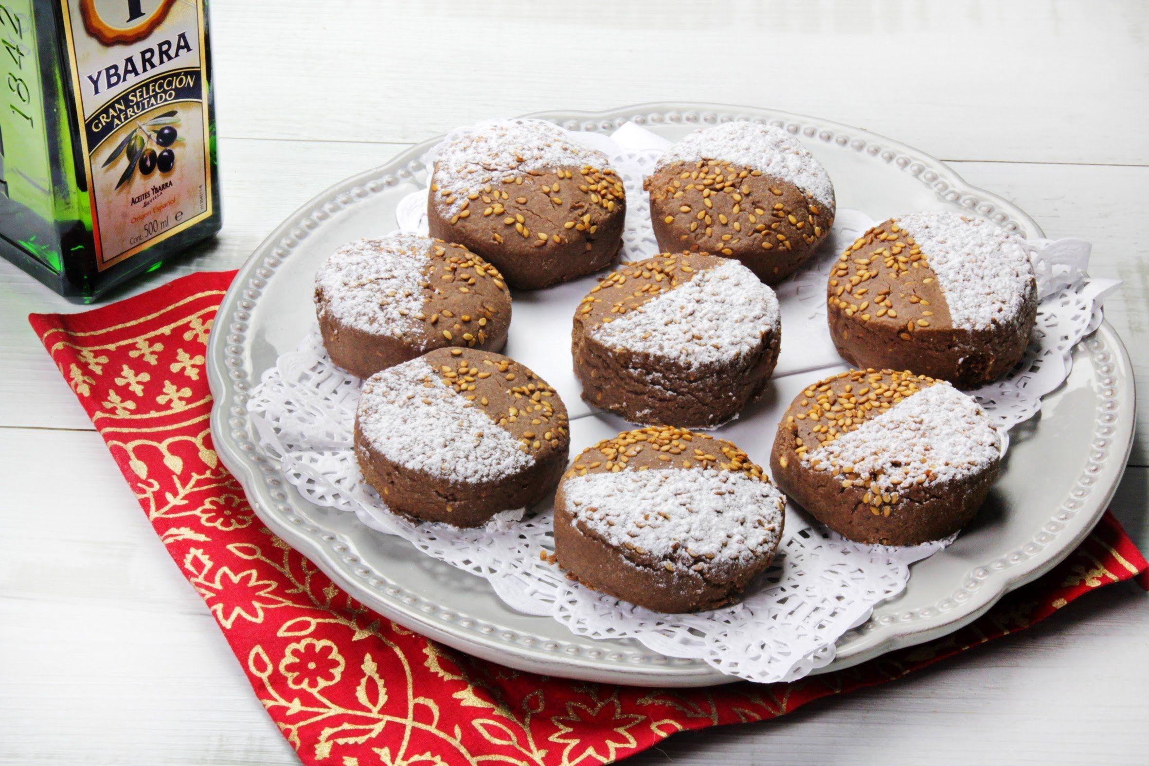 Mantecados de Chocolate con Aceite Virgen Extra Ybarra
