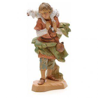 Pastorello pecora in spalla 12 cm Fontanini | Statue, Presepe, Natale
