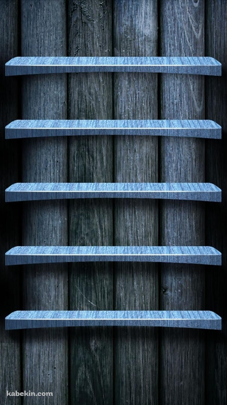 暗い木の棚のiphone7壁紙 壁紙キングダム スマホ版 木 棚