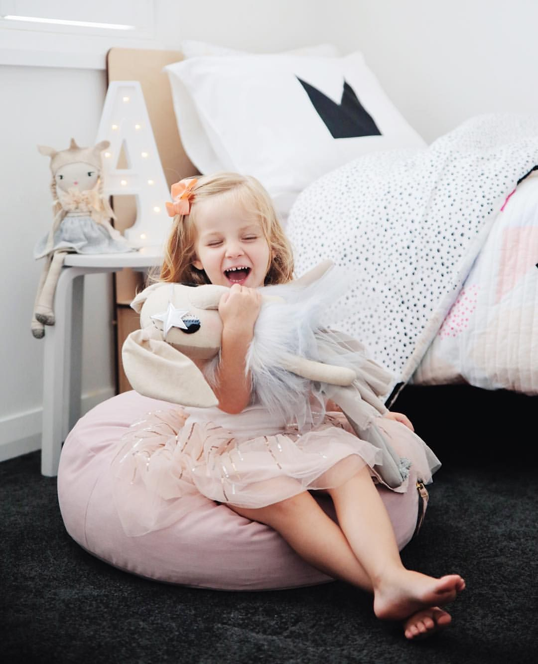 """This Little Love on Instagram: """"Addison received the most beautiful gift from @littleconnoisseur today! All the pieces for her room update are starting to arrive and I'm excited  ps- Shane is late even getting me my TLH bed!  #thislittlelove #childrensdecoranddesign #kidsroom"""""""