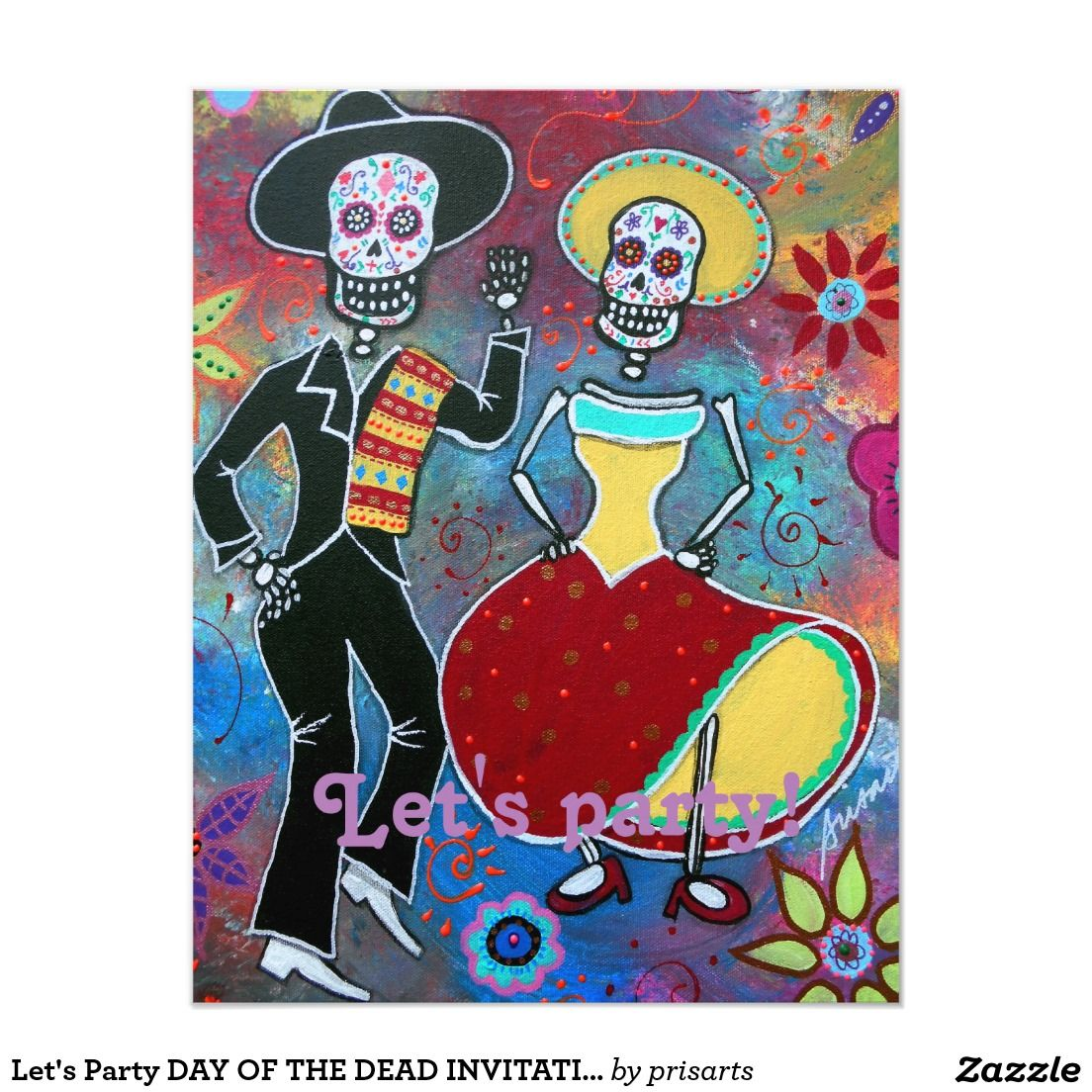 ' Party Day Of Dead Invitation