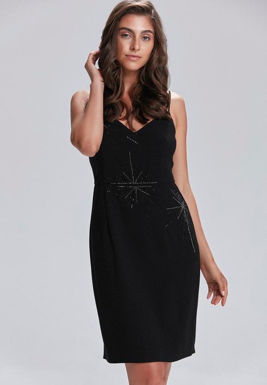 Siyah Ince Askili Elbise Love My Body Elbise Elbise Modelleri Moda Stilleri