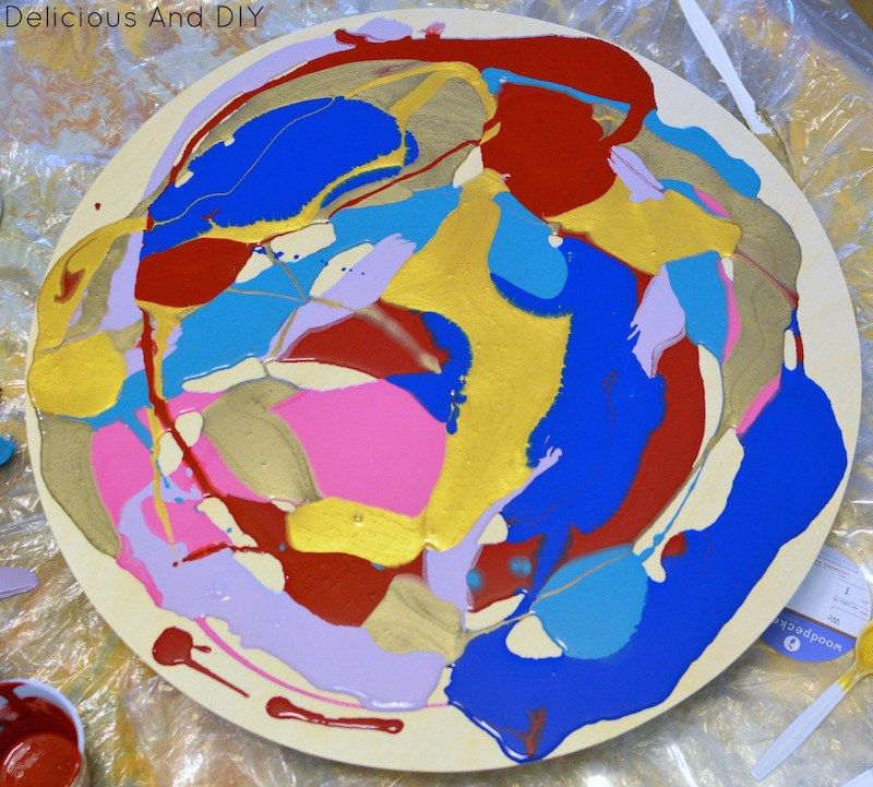 Diy marbled resin wall clock diy marbled resin wall clock delicious and diy solutioingenieria Images