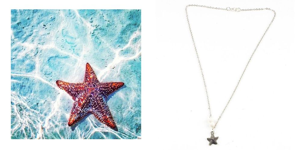 Asterias (starfish) necklace