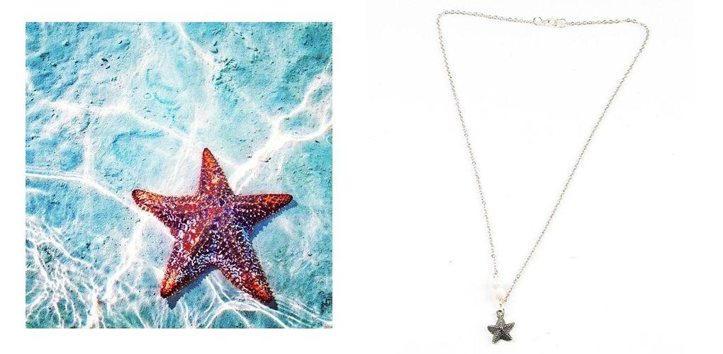Asterias (starfish) necklace