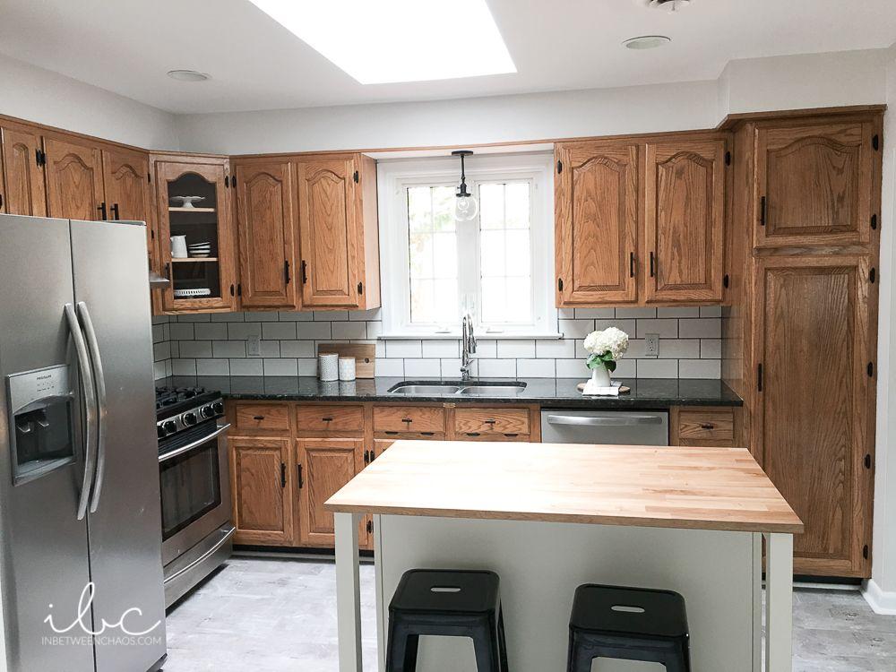 The Split Decision Inbetweenchaos Com Briwax To Change Tone Kitchen Design New Kitchen Cabinets Brown Kitchen Cabinets
