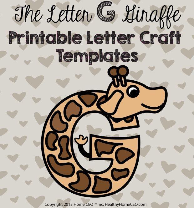 The letter g giraffe printable letter craft template by home ceo in the letter g giraffe printable letter craft template by home ceo in color and black and white spiritdancerdesigns Gallery