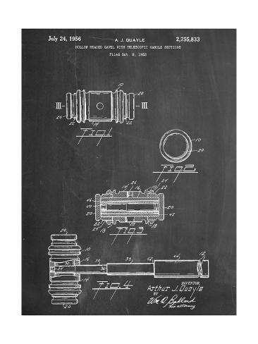 size: 16x12in Art Print: Gavel Patent Office Art :