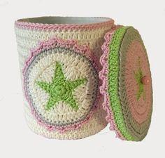 "Elealinda-Design: Aufbewahrungsdose ""Shabby Stars"""