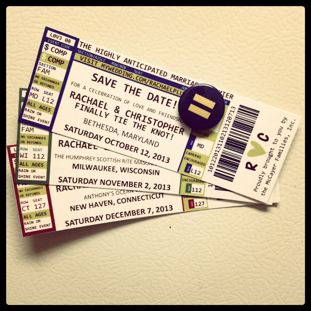 We love this DIY version of Concert Ticket Save the Dates – Invitations That Look Like Concert Tickets