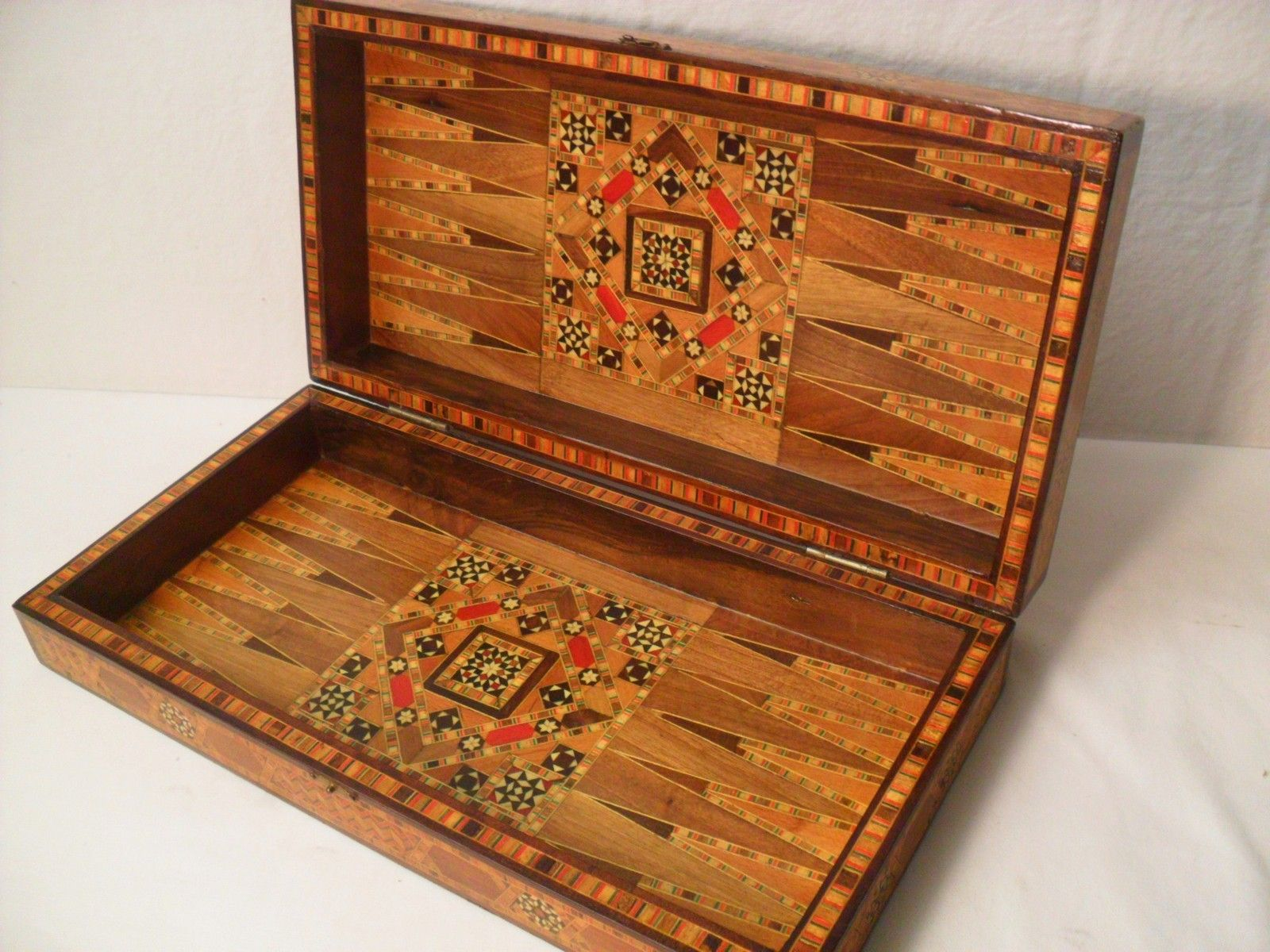 Gorgeous Antique Middle Eastern Inlaid Folding Chess Backgammon Board Vtg |  EBay
