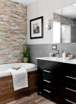 Bathroom/Laundry Room Makeovers desert quartz ledgestone. lowe's bathroom/laundry room makeover