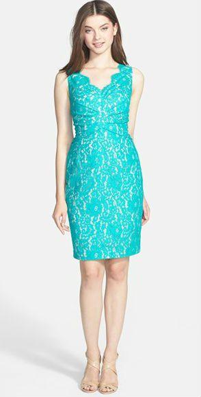 Aqua lace - great dress for a June wedding! | Wedding Guest Dresses ...
