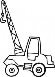 Crane Coloring Page Google Search Truck Coloring Pages