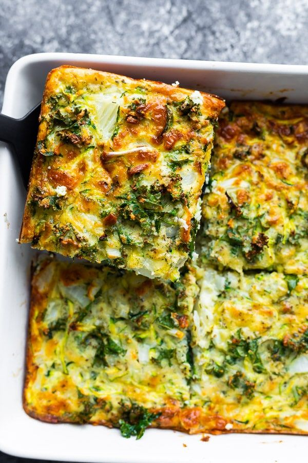Herb & Zucchini Egg Bake Recipe