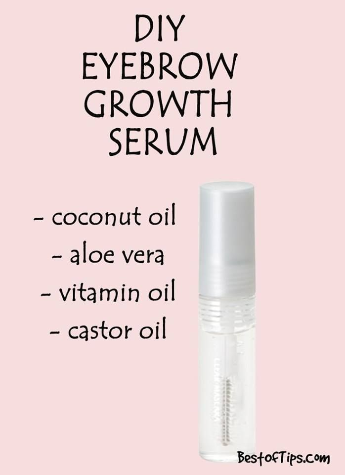 Diy Natural Serum For Thicker Eyebrows Beauty Hacks Pinterest