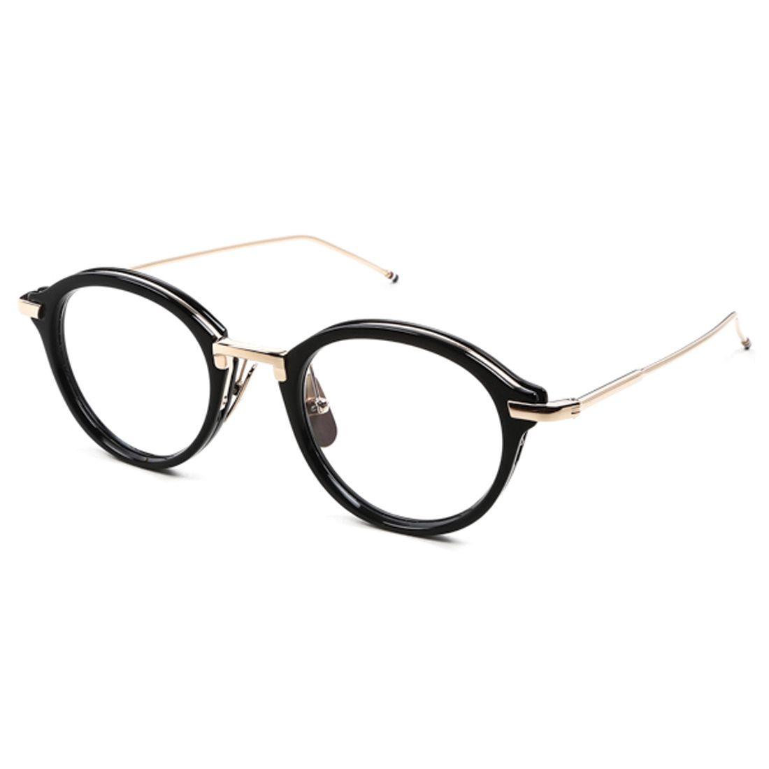Thom Browne | Eyewear | Black Acetate & 14K Gold Optical Glasses