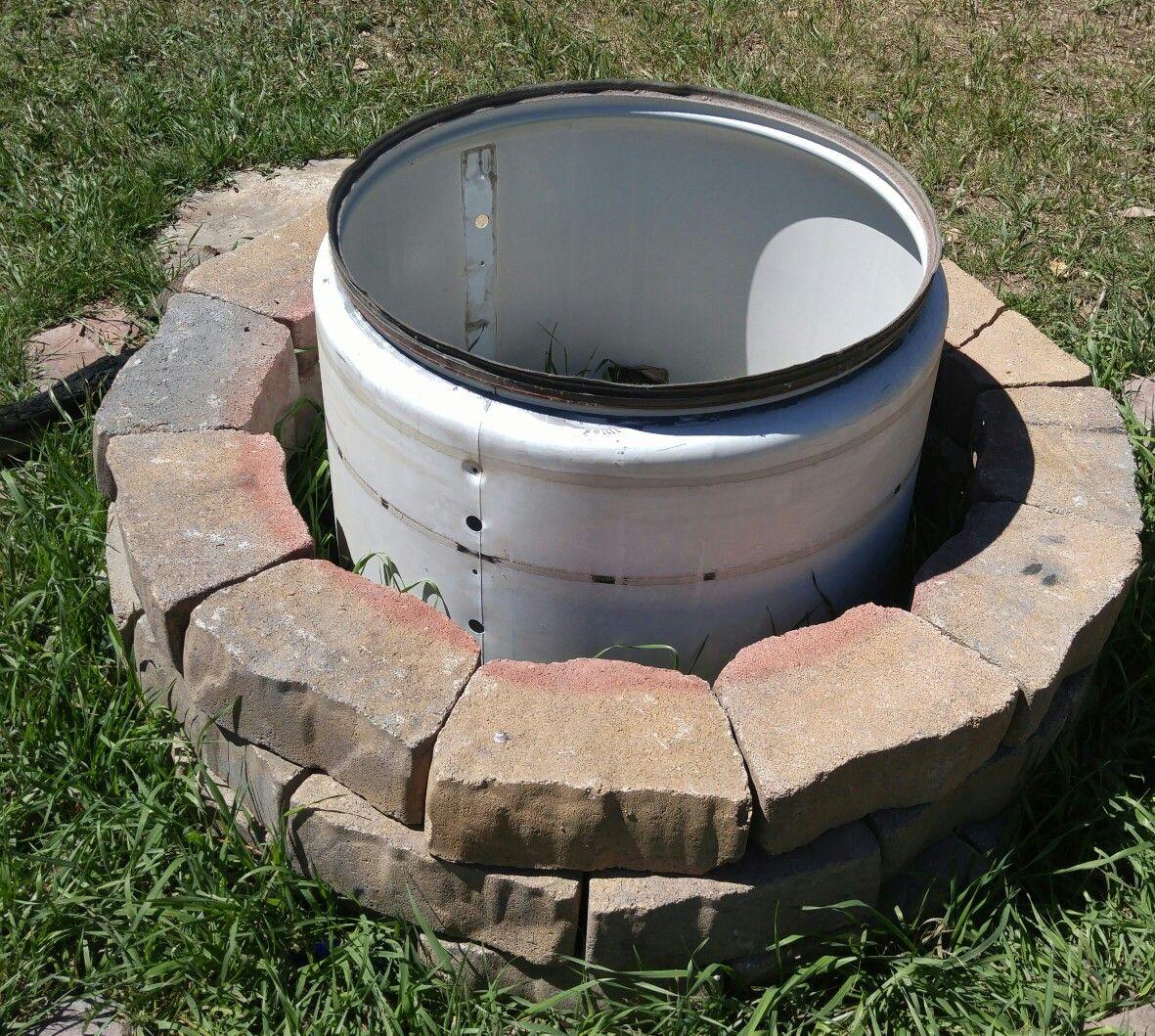 Dryer drum fire pit | Outdoor fire pit, Fire pit, Yard decor