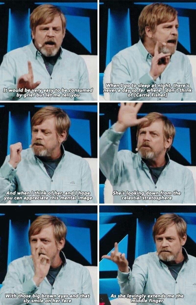A Beautiful Tribute To Carrie Fisher Mark Hamill Star Wars