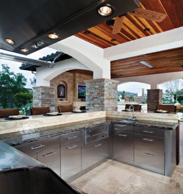 Modern Outdoor kitchen I need rat proof metal cabinets Elegant - Review outdoor kitchen refrigerator