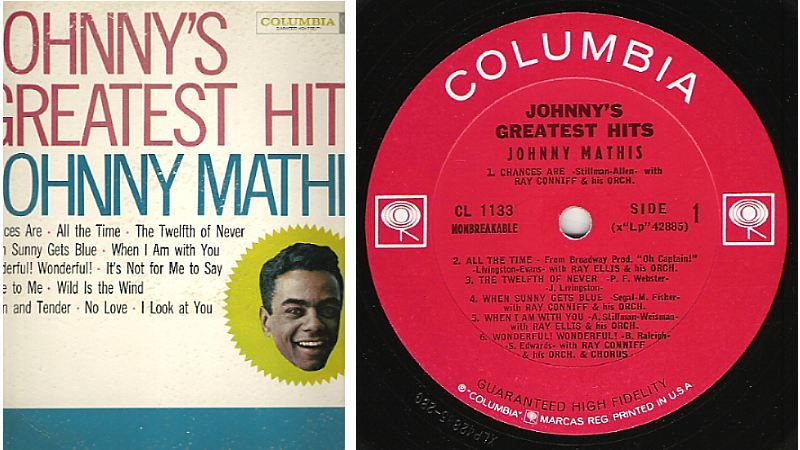 Johnny Mathis / Johnny's Greatest Hits (Columbia CL-1133) $5.50