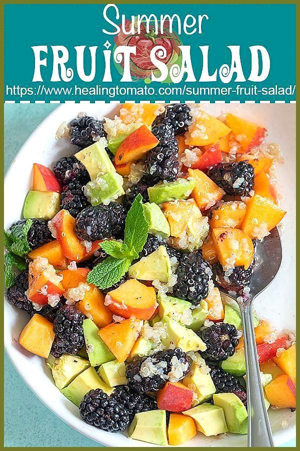 Summer Fruit Salad with Quinoa  Healing Tomato Recipes Quinoa fruit salad with blackberries peaches