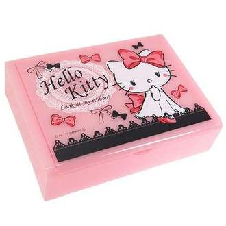 Hello Kitty accessories storage jewelry box Ribbon Sanrio teas